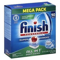 Finish Powerball Tabs Dishwasher Detergent Tablets, Fresh Scent, 90 Count : Target