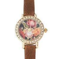River Island | River Island Watch With Floral Face at ASOS