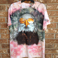 Bright and colorful jerry Garcia eagle tie dyed shirt
