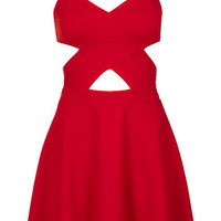 **Cut-Out Skater Dress by WYLDR - WYLDR - Brands at Topshop - Clothing