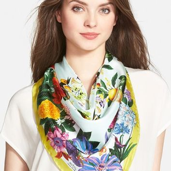 Women's Echo 'Secret Garden' Silk Square Scarf