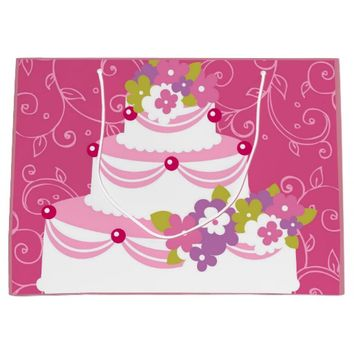 Bridal Cake Large Gift Bag