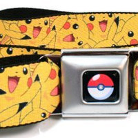 Pokemon Pikachu All Over Print Seatbelt Belt