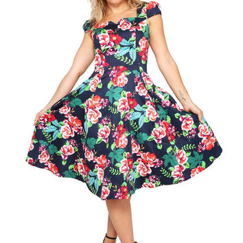 Ricky Nelson Floral Swing Dress