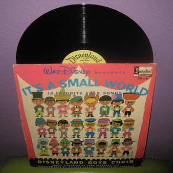 Vinyl Record Album Disney's It's A Small World LP 1965 Children's Classics