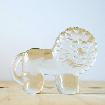 Kosta Boda Small Lion by Erik Hoglund Glass Figurine Swedish Design Paperweight