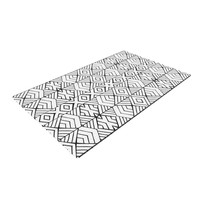 "Pom Graphic Design ""Tribal Expression"" Black White Woven Area Rug"