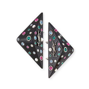 Saint Laurent Eighties Triangle Clip-On Earrings