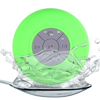BTS-06 Water Resistant Mini Portable Shower Bluetooth Speaker with Sucker Support Hands-free Calls Function for Mobile Phone