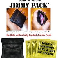 Discreet Condom Wallet - Jimmy Pack Helps Protect and Keep Condoms Organized
