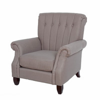 Michael Anthony Grey Tufted Accent Chair
