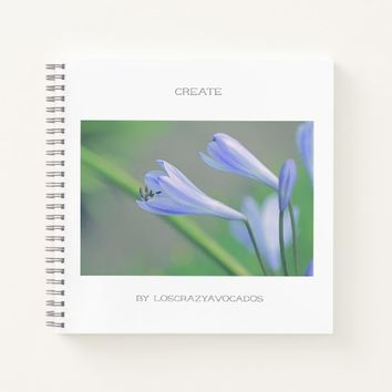 Gorgeous Blue Flowers Create Notebook