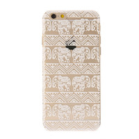 Clear Elephant Pattern Phone Case - iPhone 6/6S