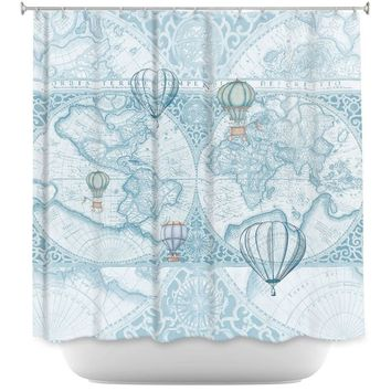 Shower Curtains By Catherine Holcombe Terralight Blue