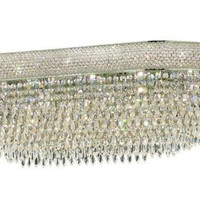 Adele - Flush Mount Oval (24 Light Modern Flush Mount Crystal Chandelier) - 1531F40