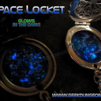 Outer Space Glow in the dark Constellation Locket by GeekDungeon
