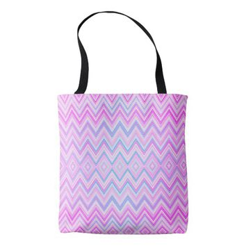 Colorful wavy patterns tote bag