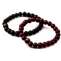 New Hot Men Wood Beads Bracelets Sandalwood Buddhist Buddha Meditation Prayer Bead Bracelet Wooden Jewelry Yoga Bracelet