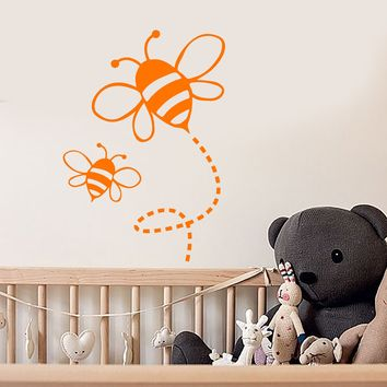Vinyl Wall Decal Bees Nursery Baby Room Kids Decor Art Stickers Mural (ig5650)