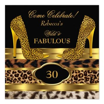 Fabulous 30 Wild Leopard Gold Cheetah High Heels 2