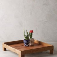 Reclaimed Wood Tray by Anthropologie Brown