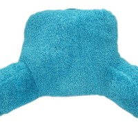 Lagoon Poodle Bedrest - Plush bedding backrest for dorm beds study in dorm room