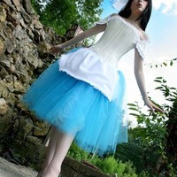 The perfect ALICE tutu skirt Romance knee length halloween costume | SistersOftheMoon - Clothing on ArtFire