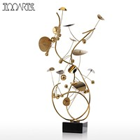 Tooarts Fruit Sculpture Modern Style Home Decor Figurine Stainless Steel Statue Abstract for Office Home Decoration Accessories
