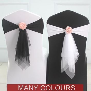 50pcs/lot wedding decoration chair cover sashes