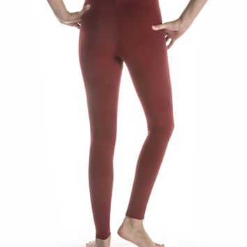 Women's Cotton-Rayon Workout Yoga Leggings