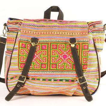 Bohemian Travel Bag Student Backpack Native Ethnic Casual bag/ Cloth Bag