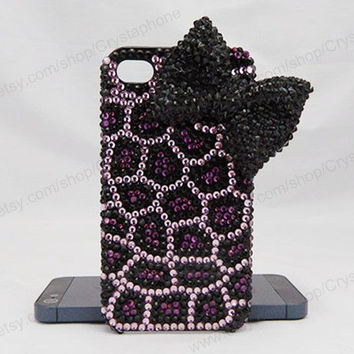 Bow Python pattern  iPhone case,bling iphone 6 case,Crystal iphone 6 Plus,Rhinestone iphone 5/5S/5c,iphone 4 case samsung galaxy S3/S4/S5