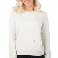 All Twisted Sweatshirt - Light Grey Melange