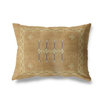 AMULET KILIM SAND Lumbar Pillow By Becky Bailey