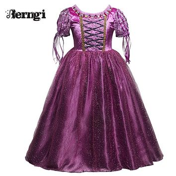 Sophia Princess Children Costume For Kids Cosplay Party Wear Teenager Girls Clothing Anna Elsa Dress Tulle Long Girl Dresses