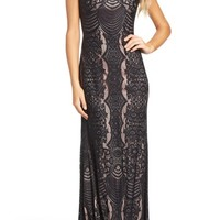 Morgan & Co. Lace Column Gown | Nordstrom