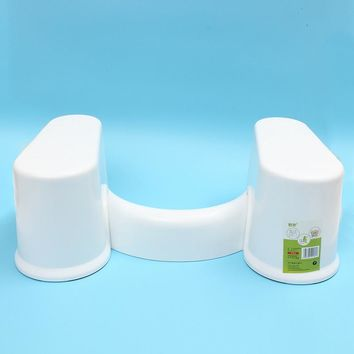 1pc 7' Non-Slip Bathroom Thick Plastic Toilet Potty Detachable Squatty Foot Stool Toilet Footstool Foot Stool Chair Box Package