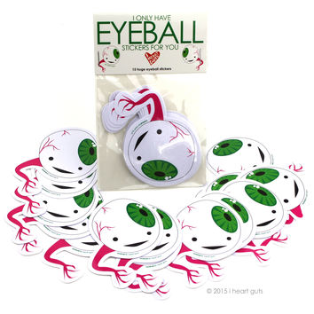 *NEW* - I Only Have Eyeball Stickers For You - 15 Eyeball Stickers