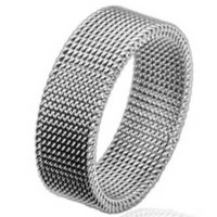 316l 8mm Stainless Steel Flexible Mesh Woven Screen Ring
