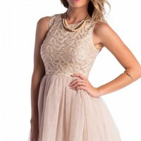 Rapunzel dress in beige | SHOWPO Fashion Online Shopping