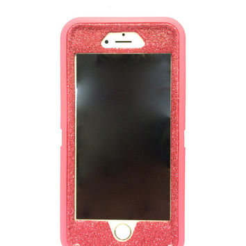 iPhone 6 (4.7 inch) OtterBox Defender Series Case Glitter Cute Sparkly Bling Defender Series Custom Case pink / pink