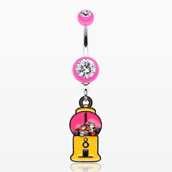 Gumball Candy Machine Belly Button Ring