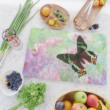 Urania Ripheus Butterfly Cutting Board by savousepate