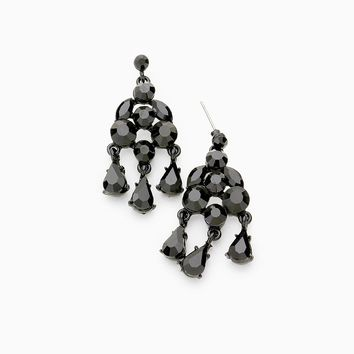 Prima Earrings - Jet