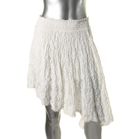 Free People Womens Asymmetric Pull On Asymmetrical Skirt
