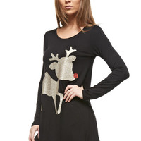 Sparkle Bambi Christmas Tunic