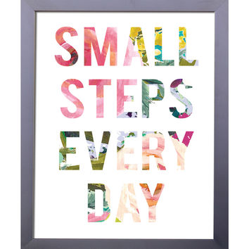 Small Steps Every Day Print