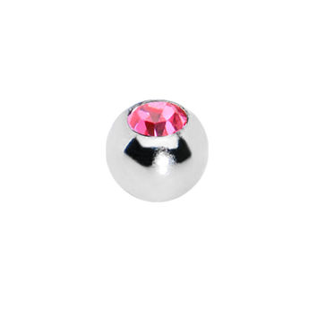 3mm Stainless Steel Pink Gem Replacement Ball