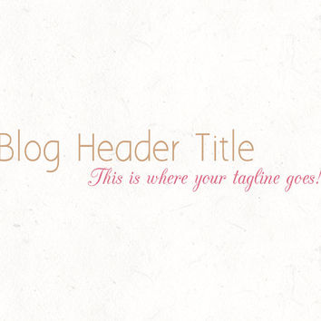 Blog header design template | instant download | digital download | psd file | DIY
