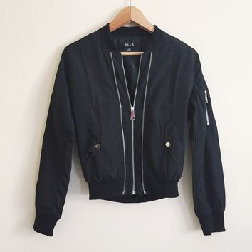 Rylie Black Bomber Jacket